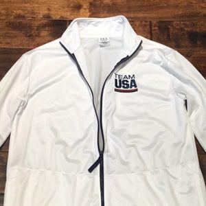 Team USA Women's Zip Lightweight Jacket Sz Large